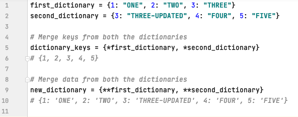 Merge two dictionaries in Python