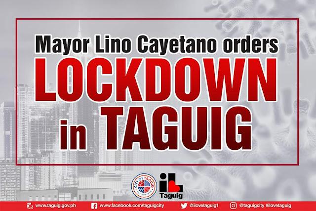 Taguig City Mayor Lino Cayetano orders city-wide lockdown