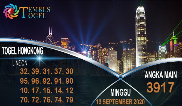 Nomor Tembus Togel Hongkong Minggu 13 September 2020