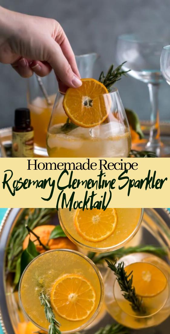 Rosemary Clementine Sparkler (Mocktail)  #healthydrink #easyrecipe #cocktail #smoothie