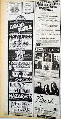 Village Voice band line up ad March 5, 1979