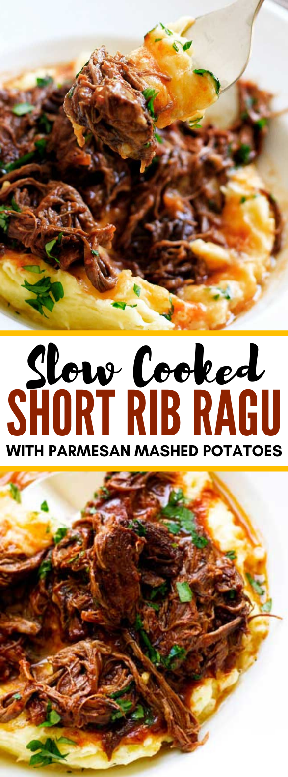 Slow-Cooked Short Rib Ragu #dinner #lunch