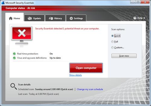 Windows . da security.