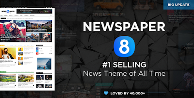 Jual Theme Newspaper V8 Murah Asli