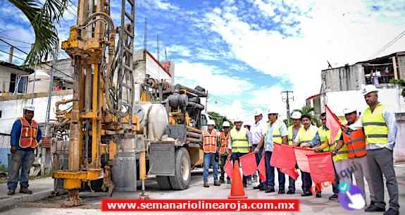 Inicia Víctor Mas Tah Construcción de 30 Pozos de Absorción de Agua Pluvial en Diversos Puntos del Municipio