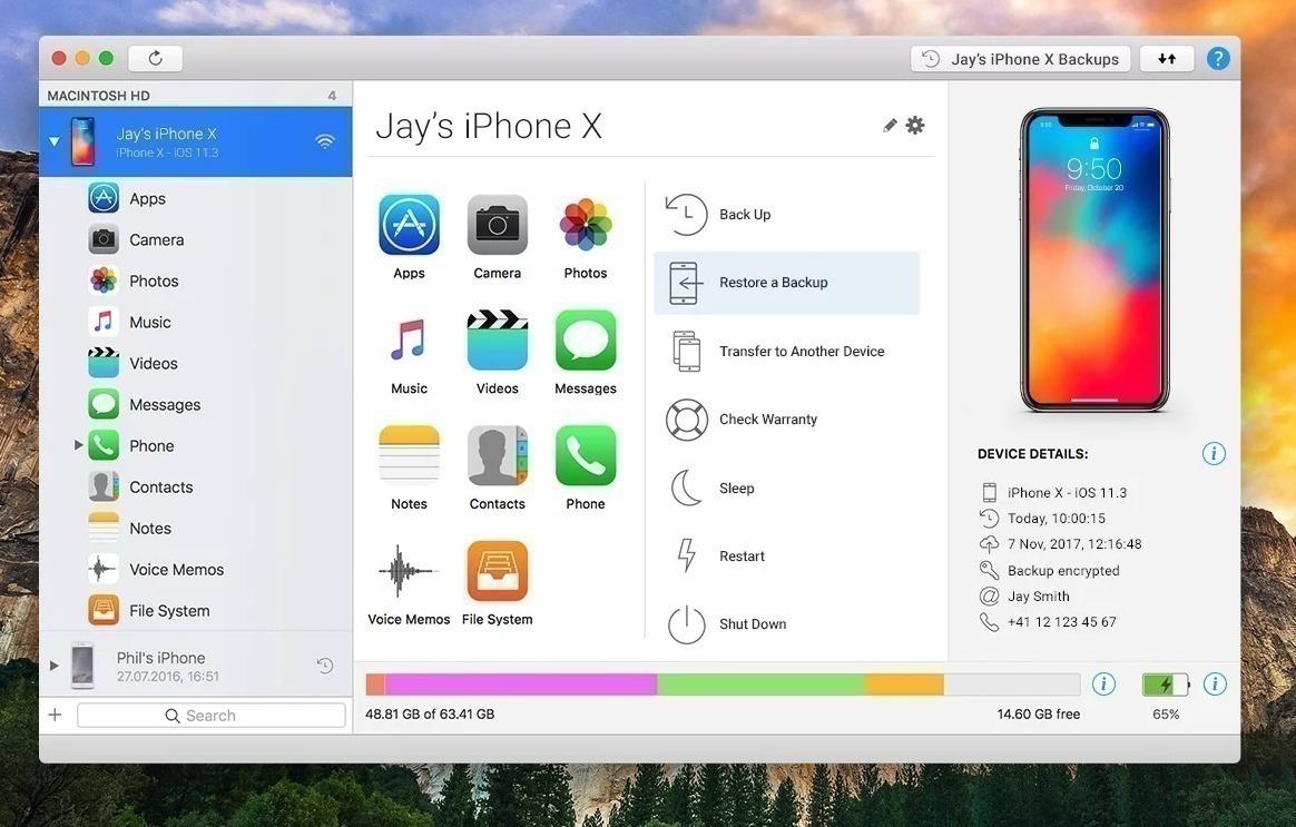 تحميل تطبيق iMazing 2.9.14 Free Download لإدارة أجهزة iPhone وiPad وiPod  عبر Windows and MacOS