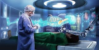 Figure 21: Robotics using AR for remote medical operation