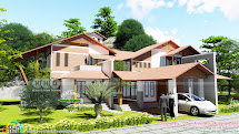 Finished House With 3d Rendering View - Kerala Home