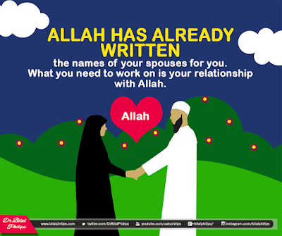 Allah has already written the names of your spouses for you