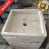 Wastafel marmer tulungagung kotak putih halus asli batualam 40 x 40cm