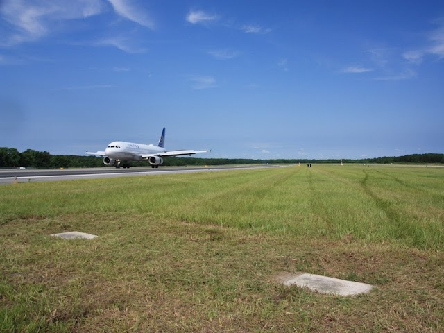 2 mysterious tombs on the airport runway