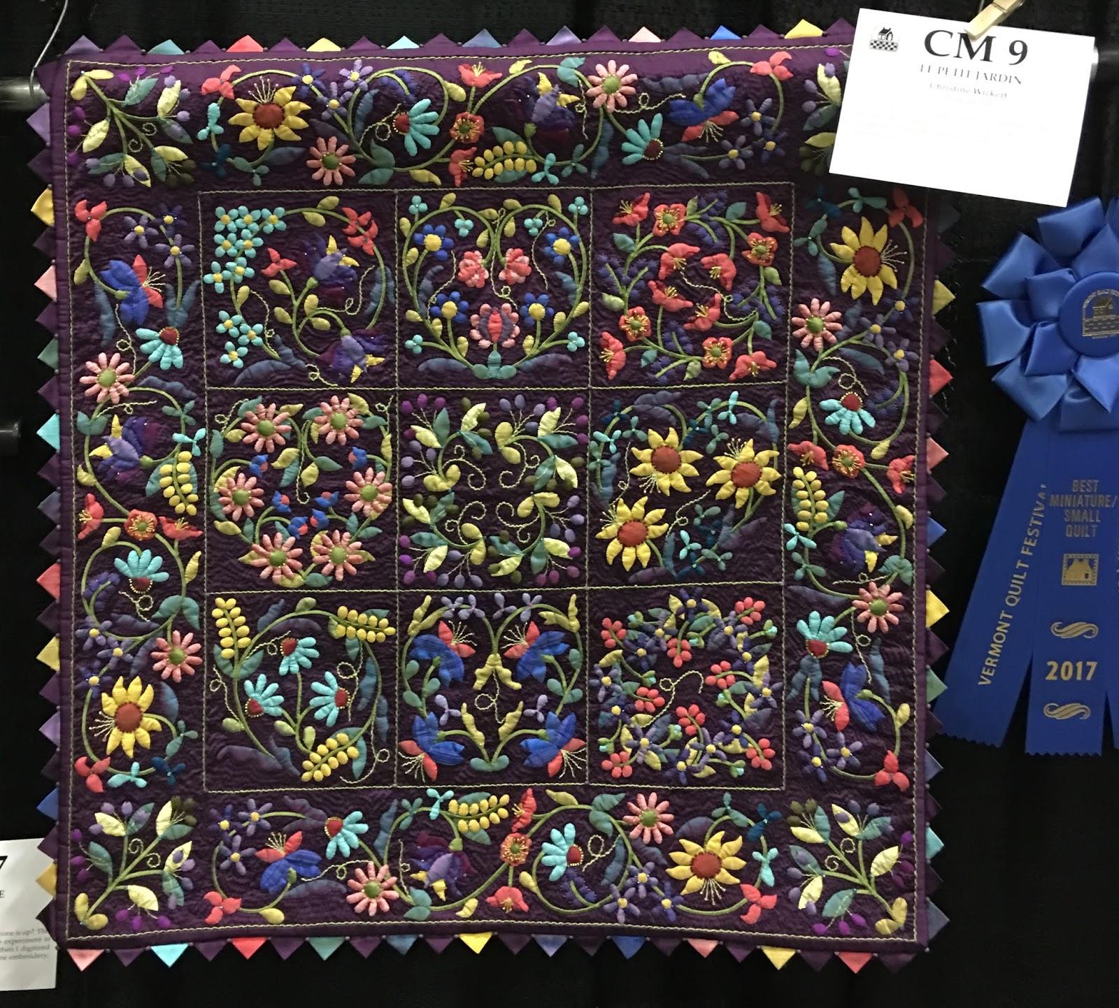 San francisco stitch co vermont quilt festival part ii - Le petit jardin quilt pattern calais ...