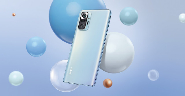 xiaomi redmi note 10 pro 108mp camera Glacier Blue