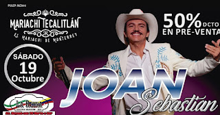 Tributo a Joan Sebastian en Bogotá Octubre 2019