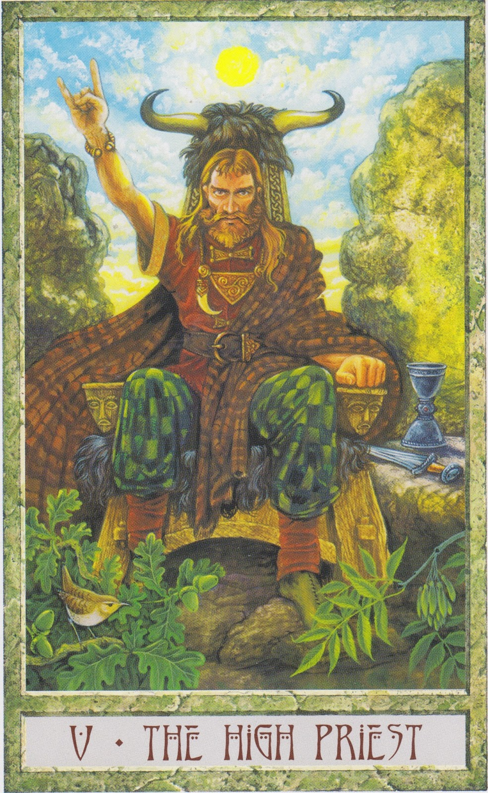 Rowan Tarot December 2012: Rowan Tarot: Lord And Lady In Druidcraft