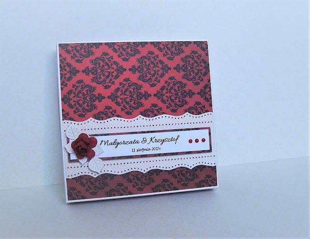 Ślubna czerwono-czarna