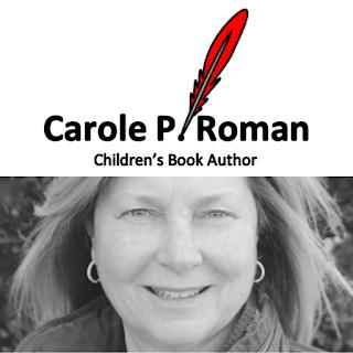 Carole P. Roman logo; photo of author