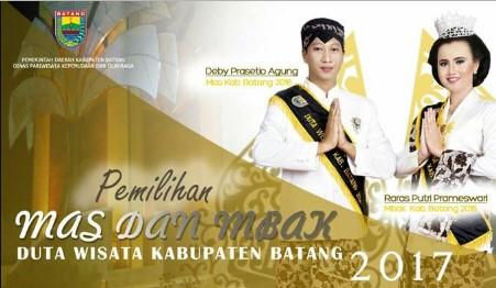Pemilihan Mas Mbak Duta Wisata Kabupaten Batang 2017