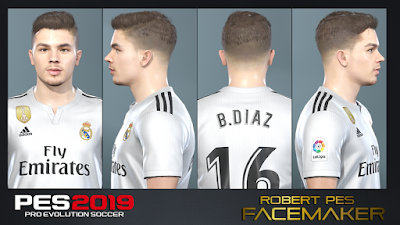 PES 2019 Faces Brahim Díaz by RobertPes Facemaker