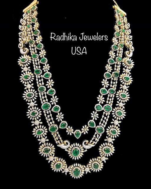 Three Layer  Diamond Set by Radhika Jewellers