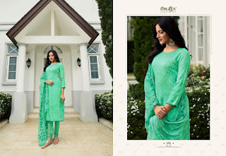 OmTex Kiara Cotton Satin With Hand Work Salwar Kameez