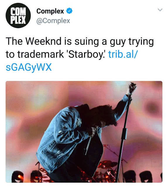 The Weeknd To Sue Wizkid And Others That Trademark Starboy