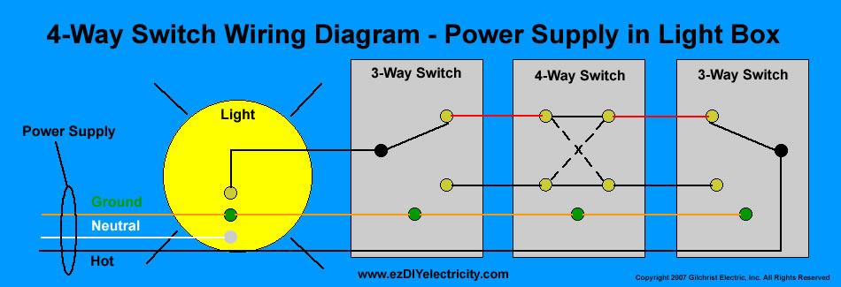 4 Way Switch Schematic - List of Wiring Diagrams  Way Wiring Diagram For Lights In Home on