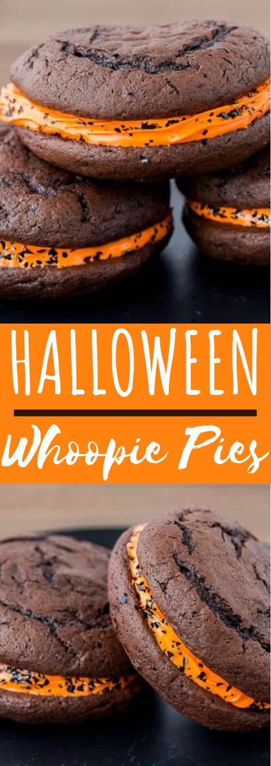 Halloween Whoopie Pies #desserts #cookies