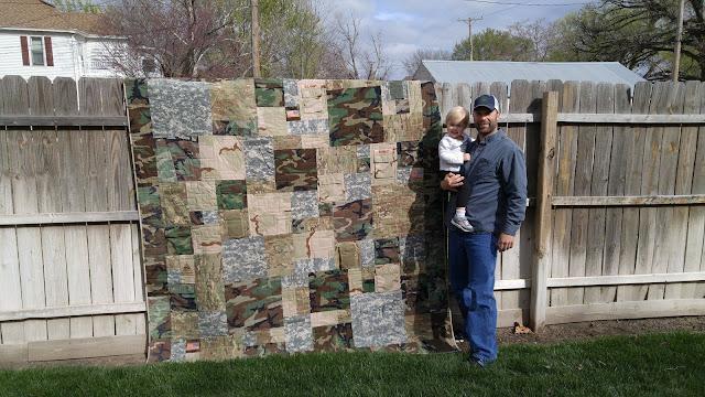 military uniform quilt