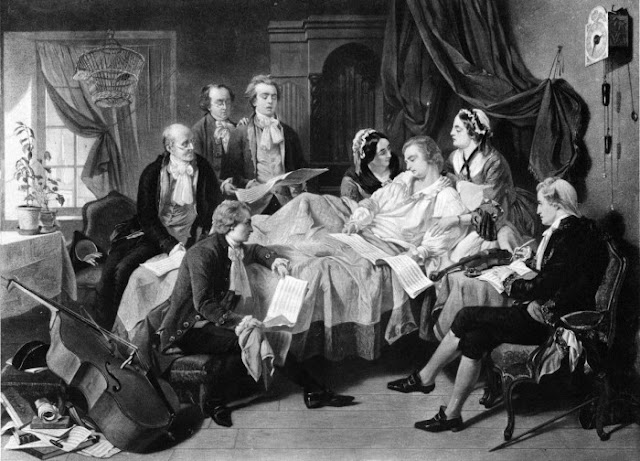 Mozart em seu leito de morte, 1971