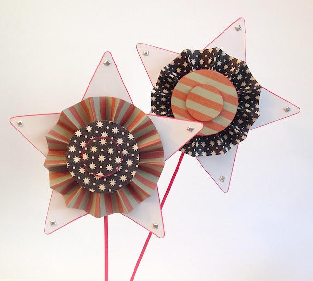 paper rosette stars