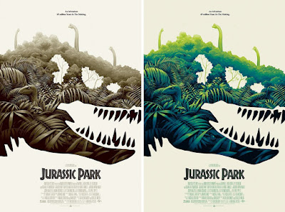 San Diego Comic-Con 2018 Exclusive Jurassic Park Movie Poster Variant Screen Print by Phantom City Creative x Mondo