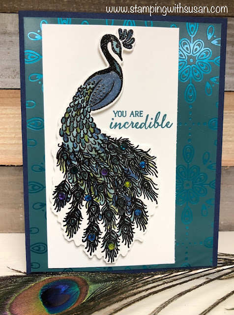 Stampin' Up!, Noble Peacock Suite, www.stampingwithsusan.com, Royal Peacock