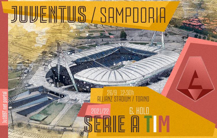 Serie A 2021/22 / 6. kolo / Juventus - Sampdoria, nedjelja, 12:30h