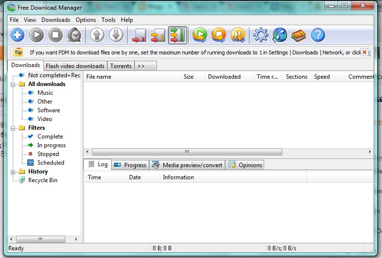 නොමිලේ දෙන Download Manager (Open Source