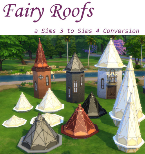 My Sims 4 Blog Ts3 Fairy Outdoor Set Conversions By
