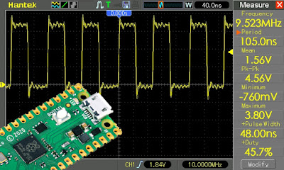 Generate square wave signal with Raspberry Pi Pico PIO
