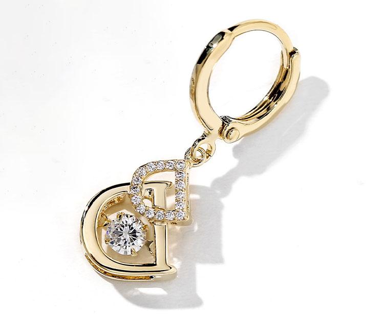 OL時尚風 DD鋯石耳環