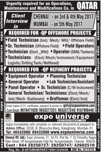 Qatar Petroleum - QP Offshore & Refinery project jobs