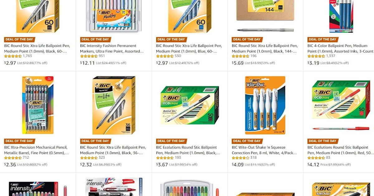 50% Off BIC Writing Products: 24 Pack Mechanical Pencils