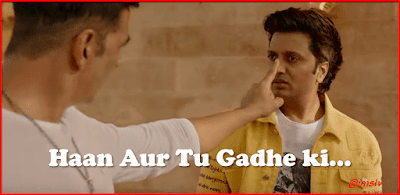 Gadhe ki dialogue