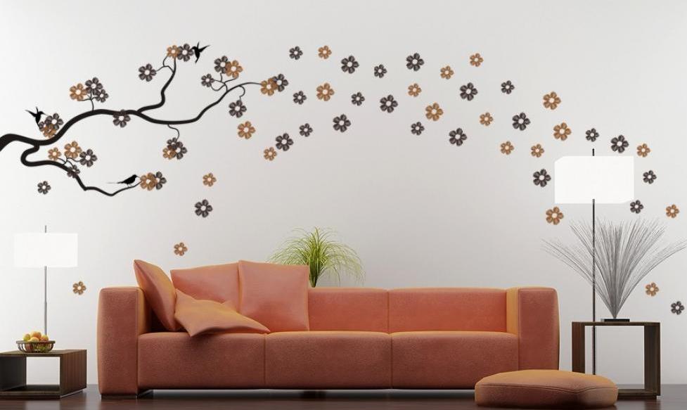Hiasan Dinding Ruang Tamu Minimalis Dari Wall Sticker