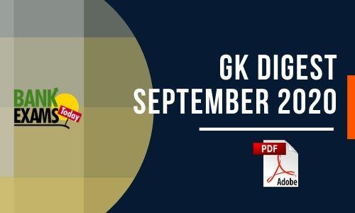 GK Digest September 2020 - Download PDF