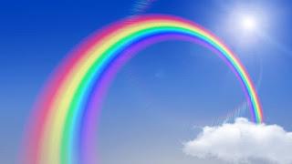 موضو انجليزي وعن قوس المطر  Rainbow