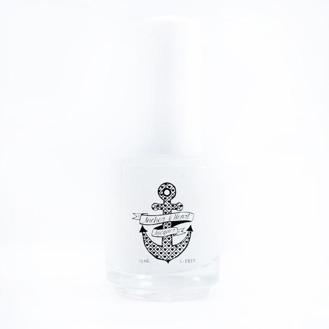 Anchor & Heart Lacquer Sea Glass Matte Top Coat  over Anchor & Heart Lacquer Hawaiian Song