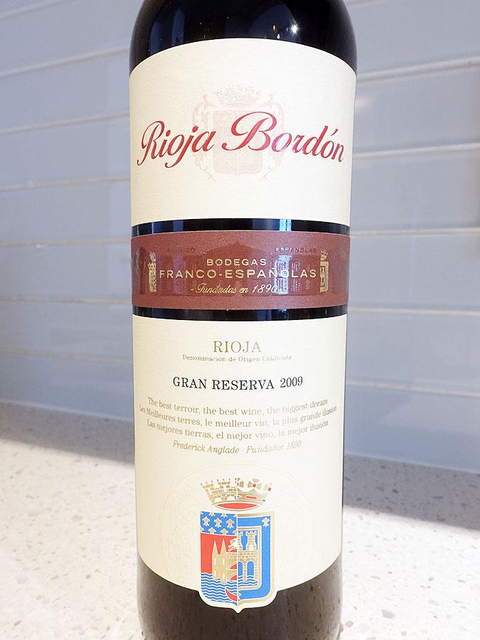 Rioja Bordón Gran Reserva 2009 (90+ pts)