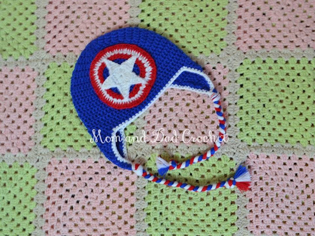 avengers, captain america, captain america crochet hat, crochet hat,