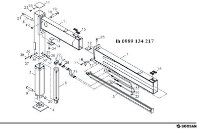 Chân- khung bệ của Cẩu soosan 12 tấn SCS1216