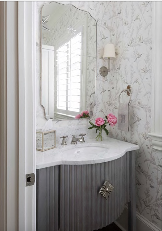 Foyer Powder Room : Before and after powder room foyer design indulgence
