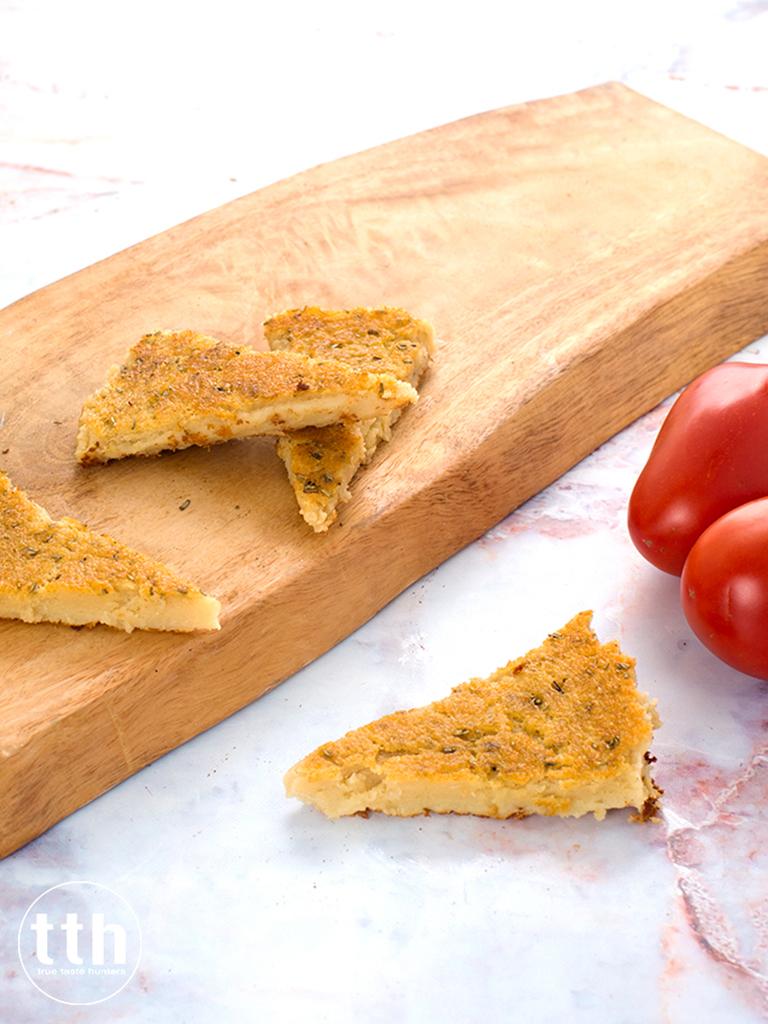 Farinata - przepis wegański, bezglutenowy
